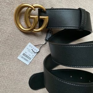 *New Gucci Belt Authėntïc Double G Marmot GG